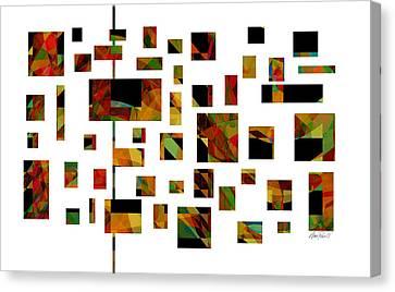 Geometric Design - Abstract - Art Canvas Print by Ann Powell