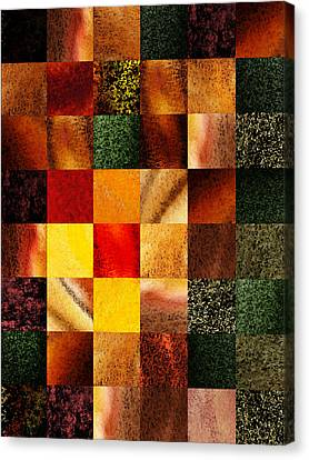 Geometric Design Squares Pattern Abstract II Canvas Print by Irina Sztukowski