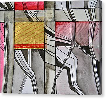 Geometric Fields Canvas Print by Shirley Devon
