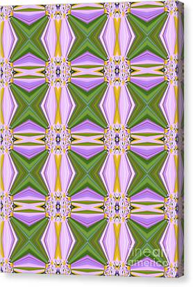 Geometric Lavender Daisies Canvas Print by Beverly Claire Kaiya