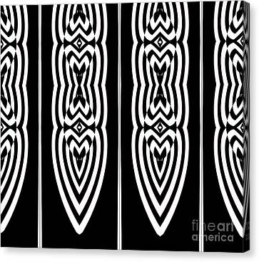 Pattern Geometric Black White Art No.337. Canvas Print by Drinka Mercep