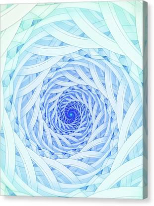 Geometric Spirals Canvas Print by David Parker