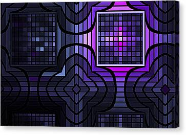 Canvas Print featuring the digital art Geometric Stained Glass by GJ Blackman