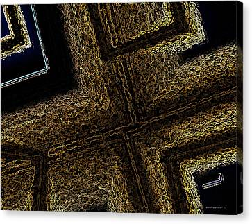 Geometric Texture And Brown Canvas Print by Mario Perez