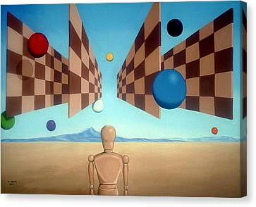 Geometric Witness Canvas Print by Michael Bridges
