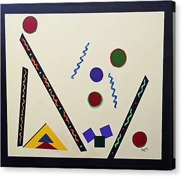 Geometrical Play Canvas Print by Karin Eisermann