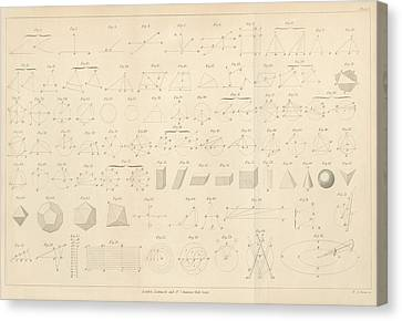 Geometry Diagrams Canvas Print by King's College London