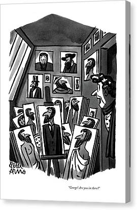 Self-portrait Canvas Print - George! Are You In There? by Peter Arno