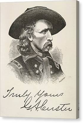 George Armstrong Custer Canvas Print by British Library