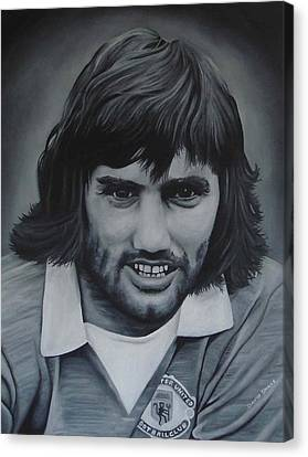 George Best Canvas Print by David Dunne