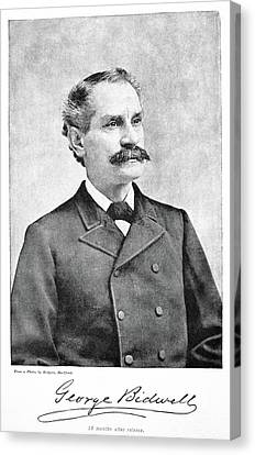 Autographed Canvas Print - George Bidwell (1837-1899) by Granger