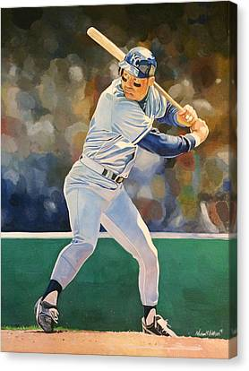 George Brett - Kansas City Royals Canvas Print by Michael  Pattison