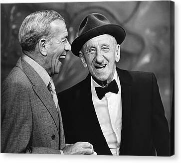 George Burns And Jimmy Durante Canvas Print by Underwood Archives