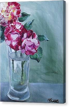 George Burns Roses Canvas Print by Melissa Torres