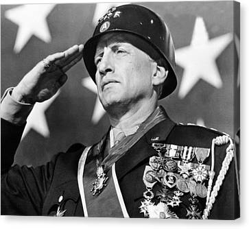 George C. Scott In Patton  Canvas Print by Silver Screen