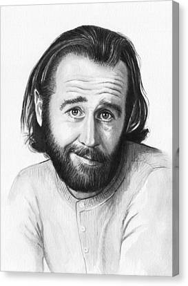Celebrities Canvas Print - George Carlin Portrait by Olga Shvartsur