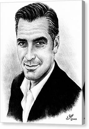 Clooney Canvas Print - George Clooney by Andrew Read