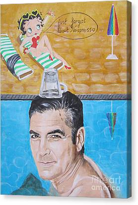 George Clooney Canvas Print by Jeepee Aero