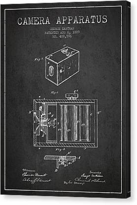George Eastman Camera Apparatus Patent From 1889 - Dark Canvas Print by Aged Pixel