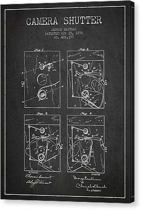 George Eastman Camera Shutter Patent From 1892 - Dark Canvas Print by Aged Pixel