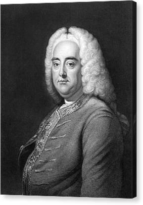 George Frederic Handel Canvas Print by Underwood Archives