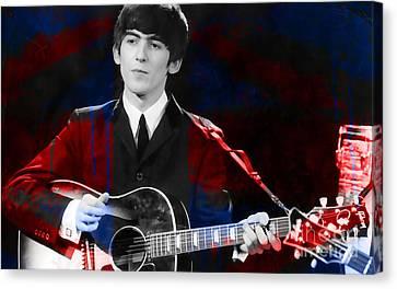 George Harrison  Canvas Print by Marvin Blaine