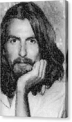George Harrison Mosaic Image 3 Canvas Print