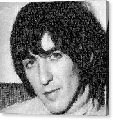 George Harrison Mosaic Image 5 Canvas Print