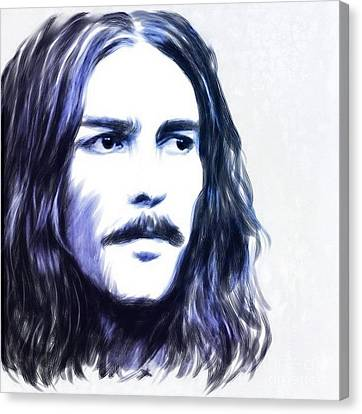 George Harrison Portrait Canvas Print by Wu Wei
