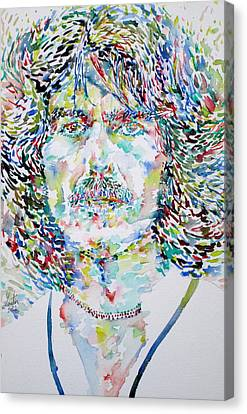 George Harrison Portrait.2 Canvas Print by Fabrizio Cassetta