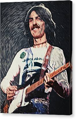 George Harrison Canvas Print by Taylan Apukovska