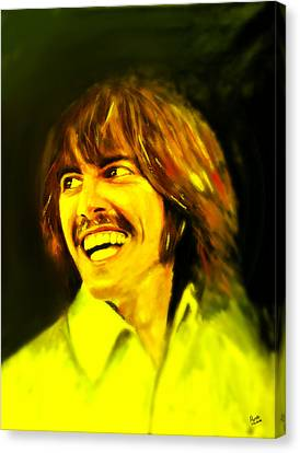 George Harrison - The Beatles Canvas Print by Marcello Cicchini