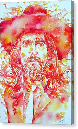 George Harrison With Hat Canvas Print by Fabrizio Cassetta