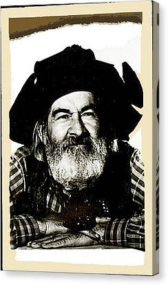 George Hayes Portrait #1 Card Canvas Print by David Lee Guss