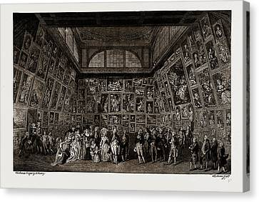 George IIi. And The Royal Family At The Private View Canvas Print by Litz Collection