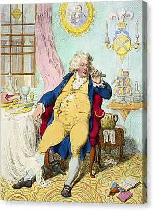 George Iv Canvas Print by James Gilray