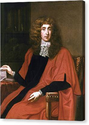 Claret Canvas Print - George Jeffreys (1645-1689) by Granger