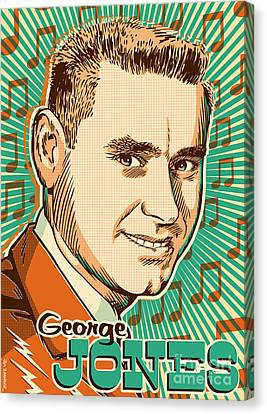 Johnny Cash Canvas Print - George Jones Pop Art by Jim Zahniser