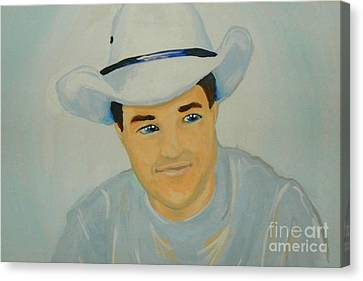 Canvas Print featuring the painting George by Marisela Mungia