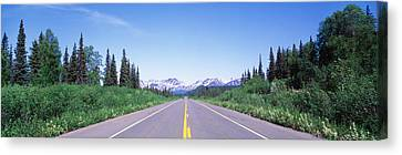 George Parks Highway Ak Canvas Print by Panoramic Images