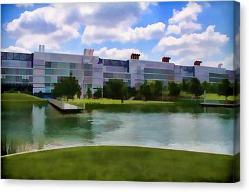 George R Brown Convention Center Canvas Print by Audreen Gieger