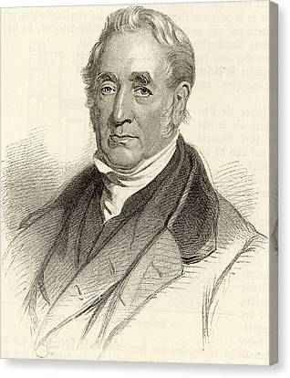 George Stephenson Canvas Print by Universal History Archive/uig