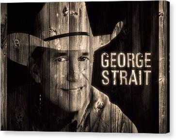 George Strait Barn Door Canvas Print by Dan Sproul