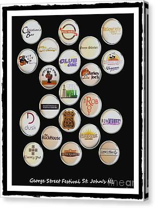 George Street Festival Bottle Caps Collage Canvas Print
