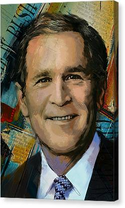 George W. Bush Canvas Print by Corporate Art Task Force