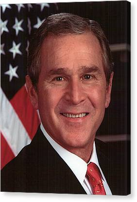 George Bush Canvas Print - George W Bush by Official Gov Files