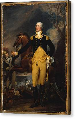 George Washington Before The Battle Of Trenton Canvas Print