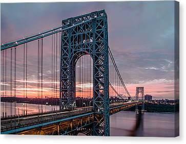 George Washington Bridge At Twilight Canvas Print