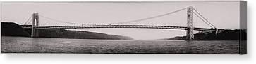 Canvas Print featuring the photograph George Washington Bridge by Chris McKenna