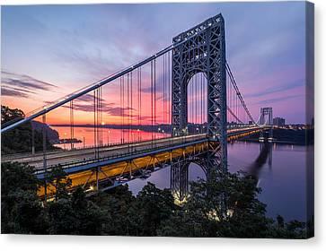 Canvas Print featuring the photograph George Washington Bridge by Mihai Andritoiu
